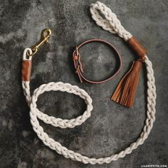 Who Let the Dogs Out We originally came up with this DIY dog leash idea as a wedding project – how cute would it be to create a custom leash for your dog if he or she is joining you on your big day?! But of course, you can use this leash for anything, whether...