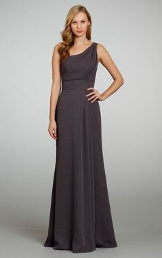 Chiffon Sleeveless A-line Floor-length Natural Bridesmaid Dresses