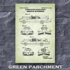 Original Batmobile Patent Print Batmobile Poster Batman | Etsy Original Batmobile, Batman Fan Art, Technical Artist, Guitar Posters, Batman Poster, Patent Drawing, Crisp Image, Patent Prints, Unique Image