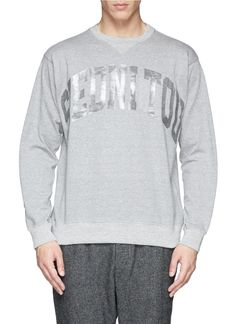 SACAI - Reverse 'inside out' slogan sweatshirt | Grey Pullovers Pullovers & Hoodies | Menswear | Lane Crawford