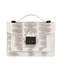 #snakeskin is the #chic -est thing for work or play. I covet this bag