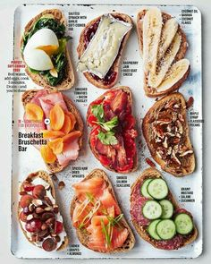 Breakfast Bruschetta Bar : Brotzeit Feed a houseful of hungry guests the easy way, without standing behind the griddle for hours. By letting them help themselves from a gorgeous selection that offers something for everyone.