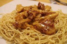 Émincé de poulet, paprika et tomates séchées