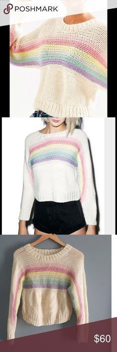 UNIF somewhere rainbow sweater Another UNIF staple u need in your wardrobe  UNIF Sweaters Crew & Scoop Necks