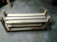 Pallet Upscaling/Shoe Rack!! Another fun-filled & giggley project for Mike & I =)