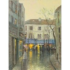 Montmantre by Thomas Kinkade Gallery Proof on Canvas | eBay
