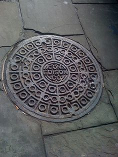 Old ConEd Manhole Cover in Brooklyn