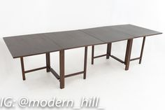 Bruno Mathsson for Karl Mathsson Maria Style Mid Century Expanding Gate Leg Drop Leaf Walnut Dining Table (exact measurements for this piece are pending) The price on our website includes getting this piece in Restored Vintage Condition. This means the piece is restored upon purchase so it's free of watermarks, chips or deep scratches with color loss - all at no additional cost to you, but it takes a bit longer to ship if you choose to have it restored.