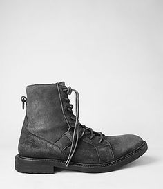 Mens Marshal Boot (Washed Black) | ALLSAINTS.com