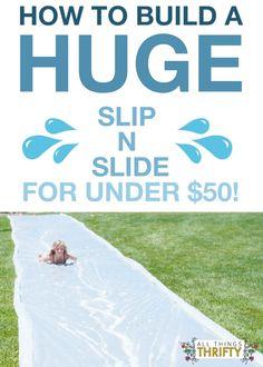 How to make a huge slip n slide