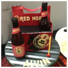 Red Horse beer cake