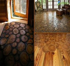 """Bring more love and life into your home and choose """"end grain"""" flooring. Aren't you love this non-traditional design so much!"""