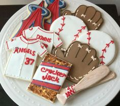 Los Angeles Angels Baseball themed Decorated by peapodscookies
