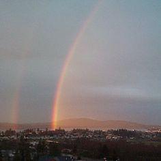 Rainbow over Anacortes WA Anacortes Washington, Pacific Northwest, North West, Road Trip, Scenery, Rainbow, Island, Vacation, Explore