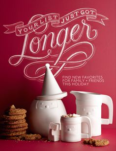 Anthology - 2011 Winter Gift Guide THIS cookie jar! Typography Love, Typography Letters, Graphic Design Typography, Graphic Design Art, Branding Design, Layout Inspiration, Graphic Design Inspiration, Typographie Inspiration, Chalkboard Lettering