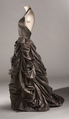 Evening gown,  Adrian  1948. (Front & side views on source.)