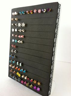 Earring DisplayStorage Doin it for the blog Pinterest