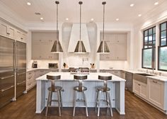 Light Gray Cabinets - Contemporary - kitchen - Benco Construction