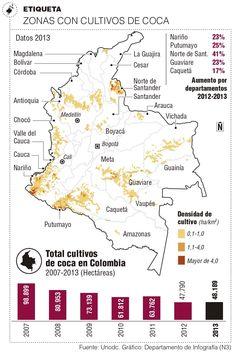 Cultivos de coca crecieron en fortines de guerrillas