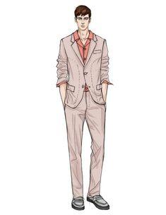 Fashion Illustration Template, Illustration Mode, Fashion Model Sketch, Fashion Design Sketches, Men Fashion Show, Mens Fashion, Style Masculin, Herren Outfit, Fashion Figures
