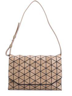 Geometric Shoulder Bag in Beige