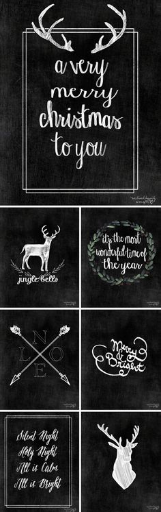 Free Christmas Chalkboard Printables from We Lived Happily Ever After