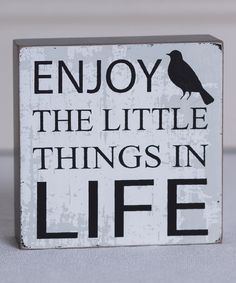 Look at this 'Enjoy the Little' Box Sign on #zulily today!