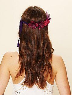 Tonal Ribbon Flower Headdress