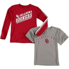Oklahoma Sooners Youth Classic Fade T-Shirt Set - Gray