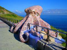Mosaic Octopus by Javier Padín Emilie Martinez  A Coruña, Galicia, Spain