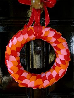 Candy Scales felt Wreath by lulucarter, via Flickr