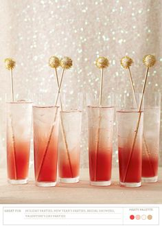 Pretty drinks, pretty poms