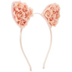 floral lace cat ears headband ($4.90) ❤ liked on Polyvore featuring accessories, hair accessories, cat ears headband, floral cat ear headband, lace headwrap, head wrap hair accessories and forever 21 headbands