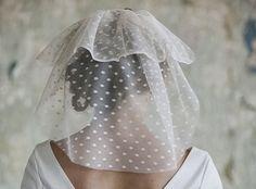 Velo de novia en plumeti corto