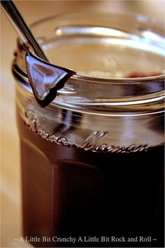Hot Fudge Sauce  I've come across a few different recipes for homemade chocolate sauce.  This one from Smitten Kitten is by far the best I have ever found. It goes beautifully over ice cream. Or in a pinch, sit down with a jar of it and a spoon. I promise not to tell anybody.