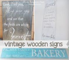 Vintage Wooden Signs Tutorial