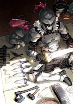 Goblin Slayer by Rwero on DeviantArt Manga Anime, Fanarts Anime, Anime Art, Anime Fantasy, Dark Fantasy, Fantasy Art, Armor Concept, Concept Art, Fantasy Character Design