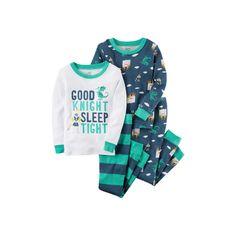 Toddler Boy Carter's 4-pc. Tops & Pants Pajama Set, Size: 3T, Blue Knight
