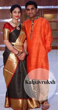 Saree Blouse Neck Designs, Kurta Designs, Kanjivaram Sarees Silk, South Indian Sarees, Simple Sarees, Elegant Saree, Couple Outfits, Indian Beauty Saree, Saree Dress