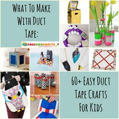 Wondering what to make with duct tape? We gathered our favorite 90 Easy Duct Tape Crafts for Kids in this collection! Crafts For Teen Girls Room, Diy Crafts For Teens, Diy For Kids, Craft Ideas, Kid Crafts, Project Ideas, Duct Tape Projects, Duck Tape Crafts, Washi Tape Crafts