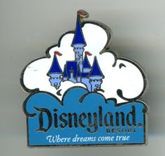 Disneyland Where Dreams Come True Lapel Hat Tack Pin