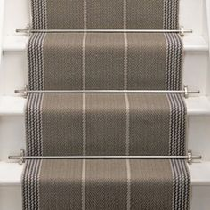 A huge selection of stair runners are available in our London Showroom. Browse our stair runner options here or pop into our showroom to see our range. Stairway Carpet, Carpet Stairs, Hall Colour, Victorian Hallway, Painted Staircases, Staircase Runner, Georgian Interiors, Diy Platform Bed, House Stairs