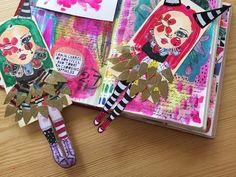 A Journal Project! Art Journal Pages, Art Journaling, January Art, Face Stencils, Art Journal Inspiration, Journal Ideas, Creative Inspiration, Paper Art, Paper Crafts