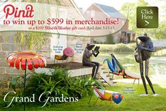 WIN merchandise in our #GrandGardens Pinterest sweepstakes!