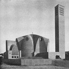 Kirche St. Engelbert, Köln-Riehl, erbaut 1930-1932. Architekt: Dominikus Böhm