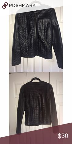 Faux leather jacket!!!! Very cool detailed faux leather jacket. Made from 100% polyurethane. From Primark. primark Jackets & Coats
