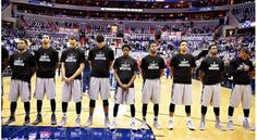 Much respect to #Georgetown The entire team wore #ICantBreathe shirts tonight for warmups. 1st college team to do so