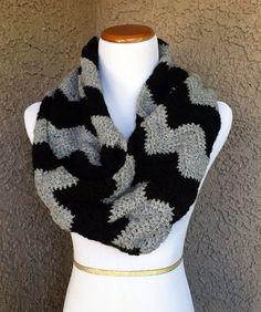 Crochet chevron infinity scarf by YarnOwlStore on Etsy, $40.00