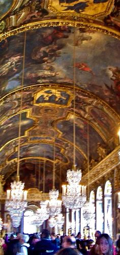 Hall of Mirrors at Versailles. Photo taken by Gloria Bolton