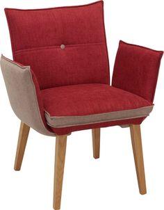 Armlehnstuhl Rot Grau hier shoppen Armchair, Furniture, Home Decor, Oak Tree, Red, Colors, Sofa Chair, Single Sofa, Decoration Home
